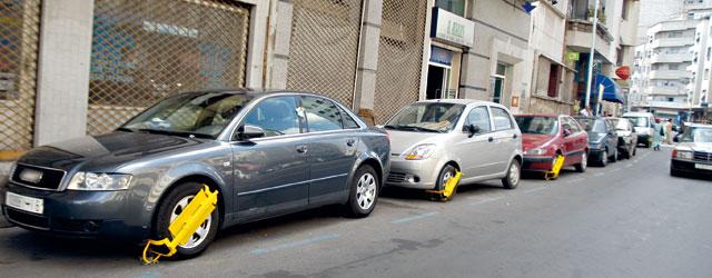 Pose de sabots : Rabat Parking condamnée