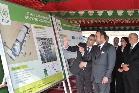 Le Roi inaugure des projets de 5,45 Mds de DH à Jorf Lasfar