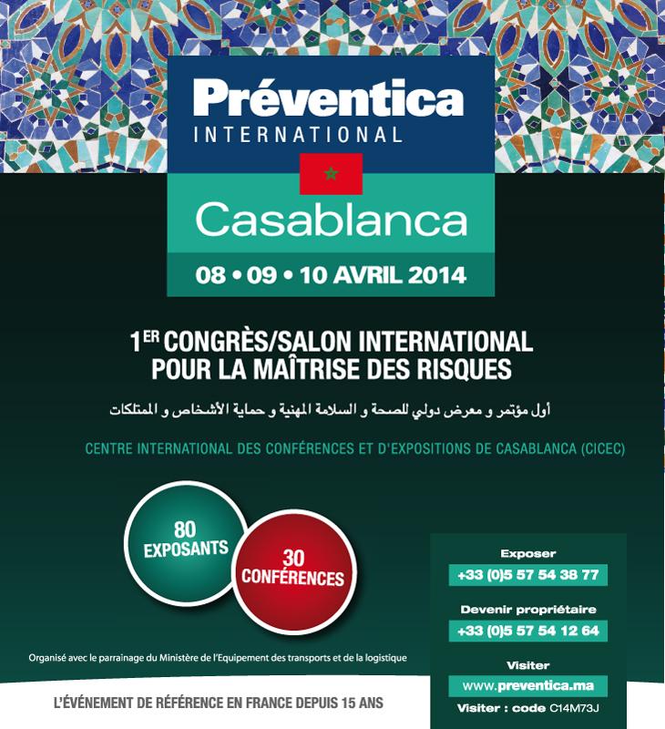 Inauguration à Casablanca de la 1ère édition internationale du salon Préventica Maroc