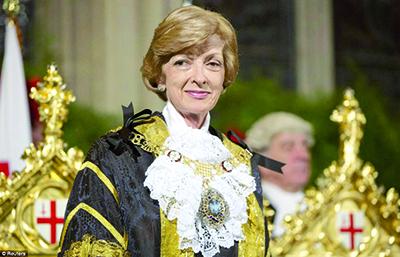 La Lord-maire de la City de Londres, Fiona Woolf,
