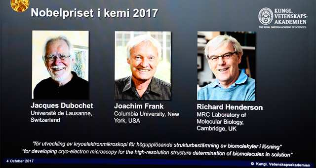 Le Nobel de chimie à un Suisse, un Américain et un Britannique