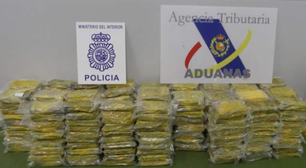 Saisie record de 8,7 tonnes de cocaïne en Espagne