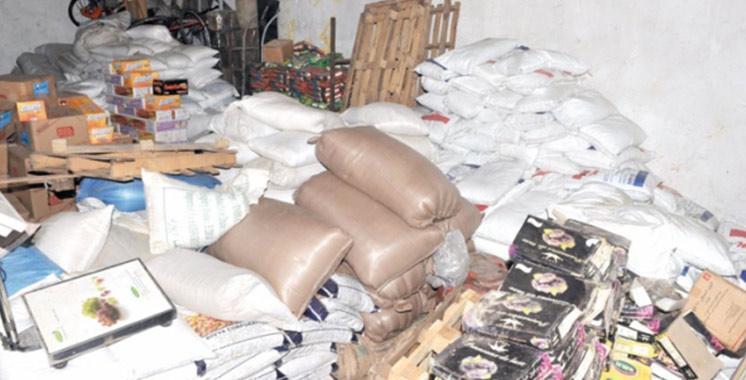 Beni Mellal : Saisie et destruction de plus de 11 tonnes de produits alimentaires impropres à la consommation