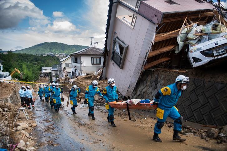 Japon : Le bilan des inondations et éboulements monte à 156 morts