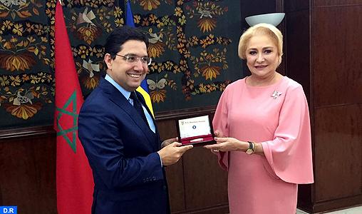 Nasser Bourita s'entretient avec la Première ministre de la Roumanie