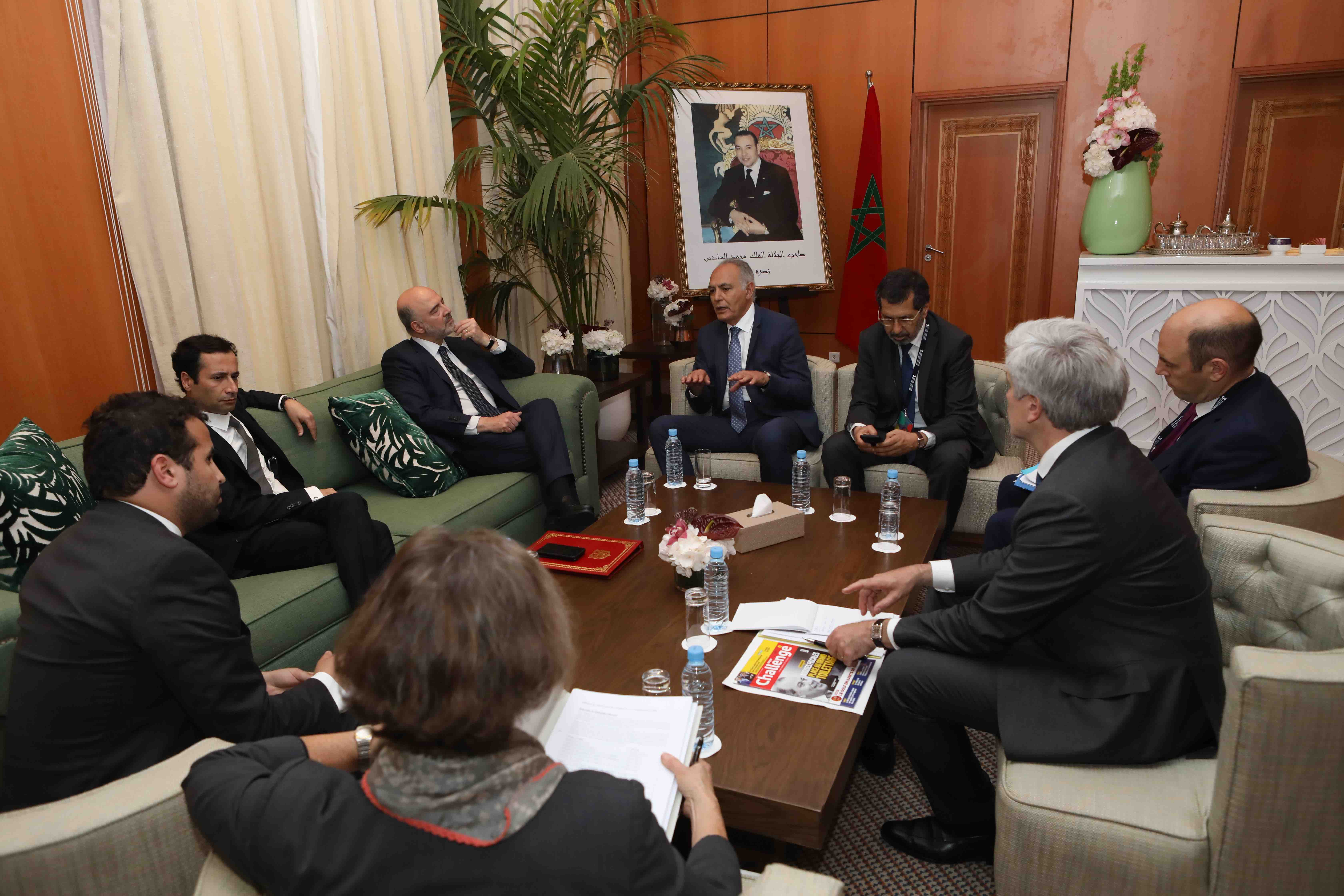 Maroc-UE: Mezouar rencontre Moscovici