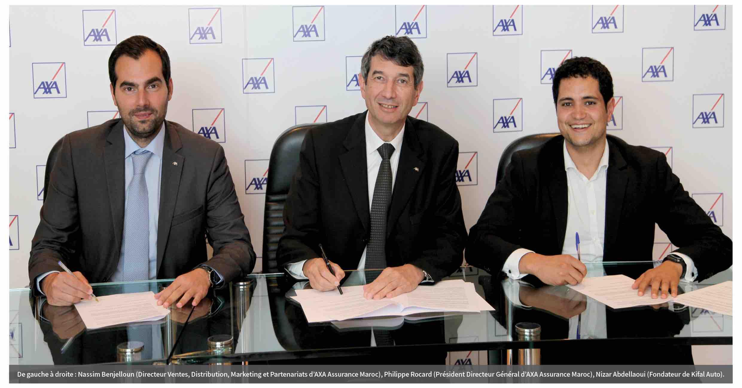 Partenariat entre AXA Assurance Maroc et Kifal Auto