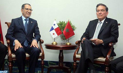 El Otmani reçu en audience par le nouveau président du Panama