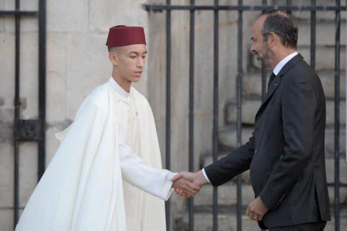 Le Prince héritier Moulay El Hassan aux obsèques de Jacques Chirac