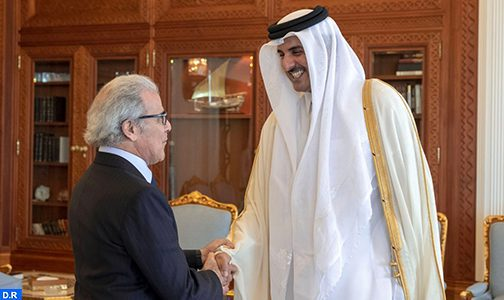 L'émir du Qatar reçoit le wali de Bank Al-Maghrib
