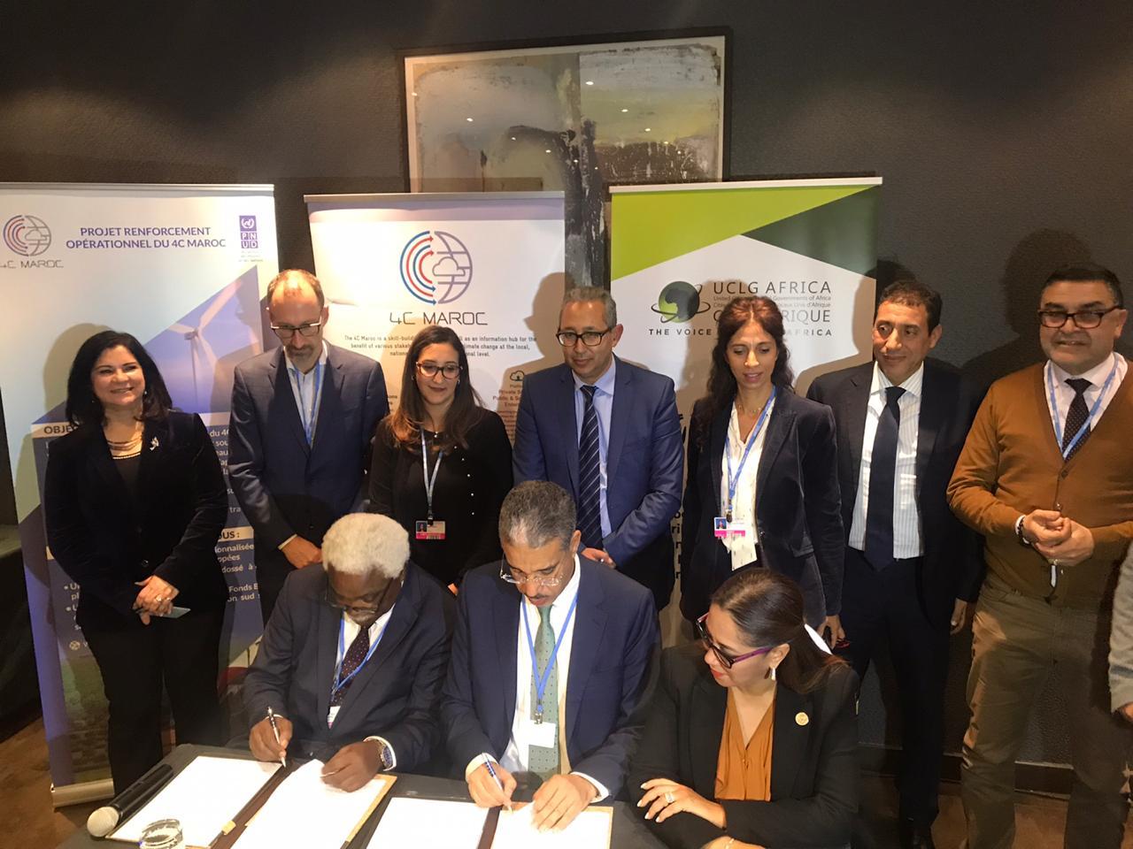 Climat: Le centre 4C Maroc et CGLU Afrique signent un accord de coopération