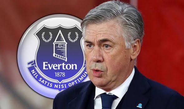 L'entraîneur Carlo Ancelotti à Everton