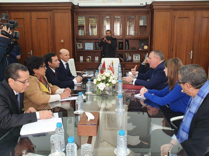 Benchaâboun reçoit le secrétaire d'Etat britannique au Commerce international