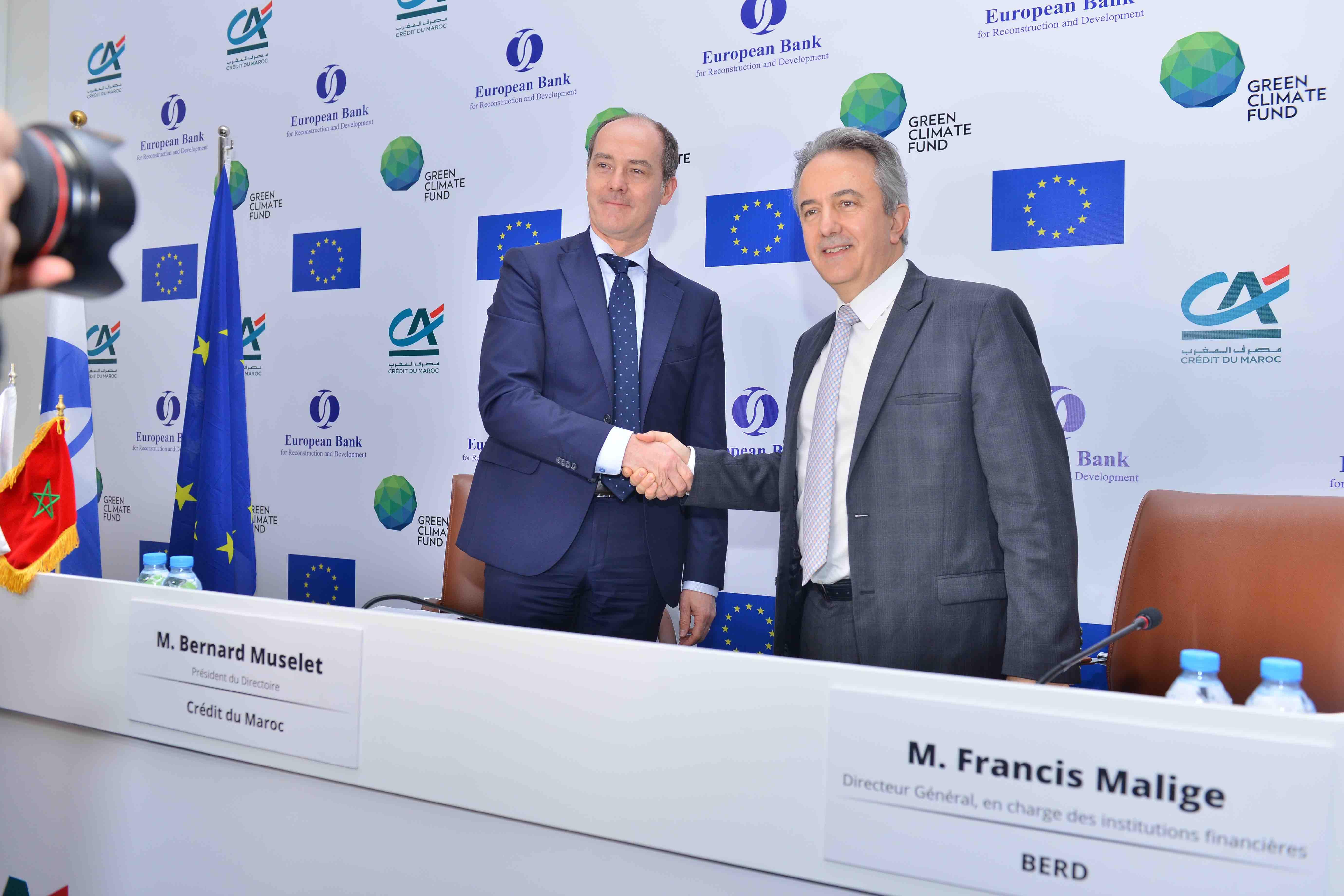 La BERD et Crédit du Maroc au chevet de l'économie verte