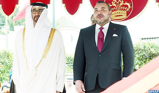 Le Roi Mohammed VI s'entretient avec Cheikh Mohamed Ben Zayed Al Nahyane