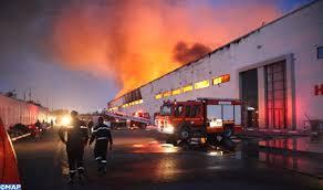 Casablanca : Important incendie dans un dépôt de stockage