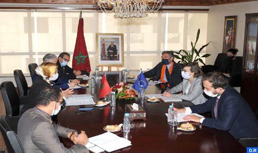 Insertion des immigrés : El Ouafi et l'Ambassadeur de l'UE au Maroc se félicitent du niveau de coopération