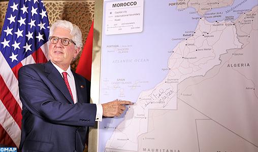 Sahara marocain: L'ambassadeur américain au Maroc présente la carte complète du Royaume