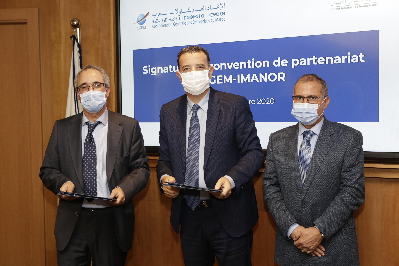 """Prévention des risques de contamination à la Covid-19: La CGEM et IMANOR promeuvent le label """"Tahceine"""""""