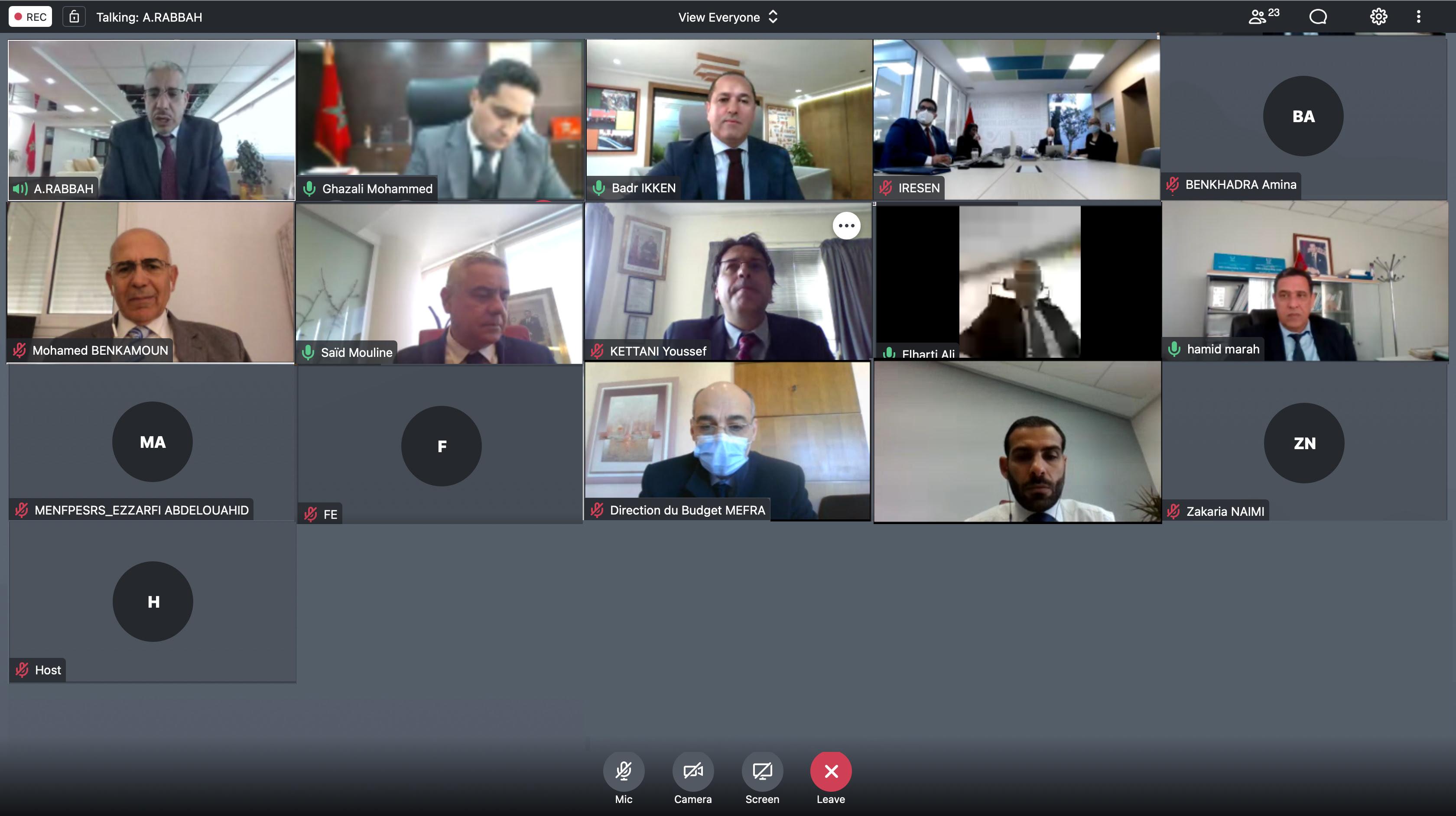 13ème  réunion du Conseil d'administration d'IRESEN sous la présidence de Aziz Rabbah