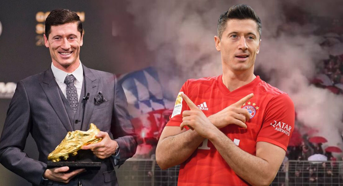 Football: Robert Lewandowski reçoit le Soulier d'or européen