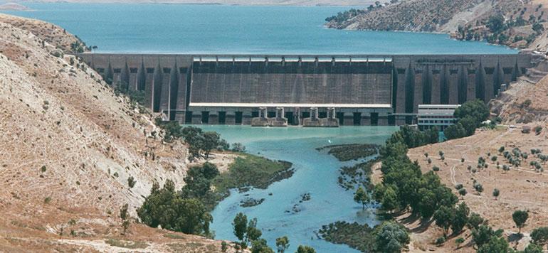 Moins d'eau dans les barrages